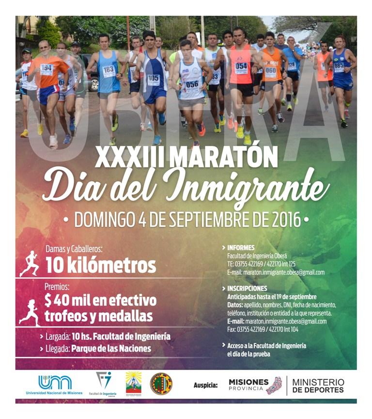 maraton dia del inmigrante